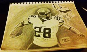 Drawing of Adrian Peterson  by Bigken20