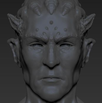 Demon Sculpt Sketch by Plyxis