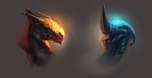 Dragon Heads by WojtekFus