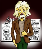 Albert Einstein Lion Full Color by Joe5art