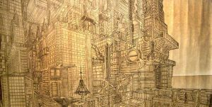 Overcomplicated Cityscape by AriBach