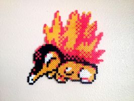 Cyndaquil - Fuse Beads by chocovanillite