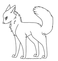 .:Free Wolf Lineart:. by LonelyWhispers15