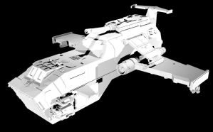 Thunderhawk Gunship by Troez