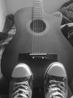guitar and converse by riotgirlckb