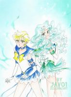 enernal sailor uranus and sailor neptune by zelldinchit