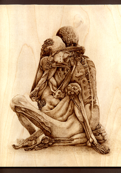Beksinski - Woodburning by Eskarine