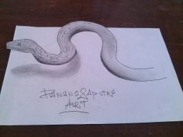 The Snake Coming From Paper by DanangART97