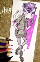 AT-Punky Purple by TheLittleArtyThing