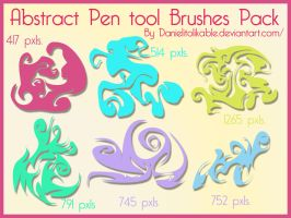 Abstract pen tool brushes by danielitolikable
