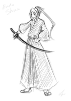 sketch : My Bleach oc XD by Michron