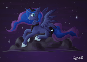 Luna on a cloud by Gaiascope