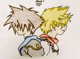 Sora And Roxas Two Of A Kind by Tidus-Yagami