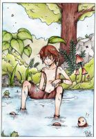 In the Water - Color - by GM-Pi