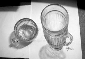 3d drawing cup #2 by LivieSukma