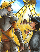 Don Quixote: Arguing of Giants by Hanyuse
