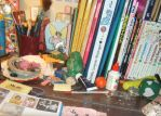 The desk of a genious by loveandpeacetotoro
