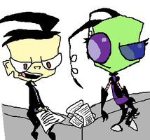 Dib and Jewel Plotting Against Zim by DibFan4LifeX3