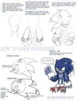 How to draw Weresonic by NetRaptor