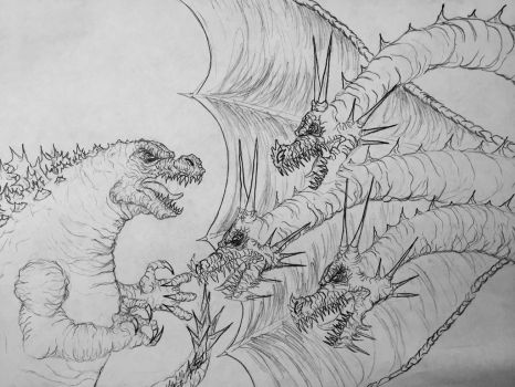 Godzilla vs. King Ghidorah by Kongzilla2010