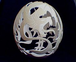 Dragons on ostrich egg by csaba1976