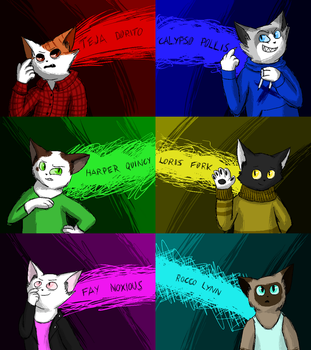 just a bunch of cat OCs by screbel