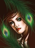 Peacock Feathers by KathyTheFox
