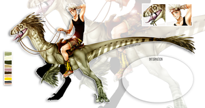 Dino Rider(Utahraptor)- AUCTION [CLOSED] by ZerkWolf
