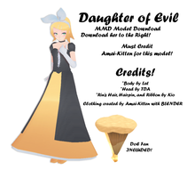 Daughter of Evil (Amai) DL by amai-kitten