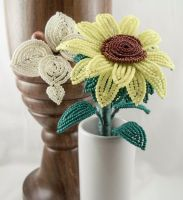 Sunflower and Butterfly for Leah by CharmaineP