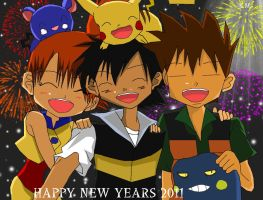 Original Trio-Happy New Years by KasuSatoHika