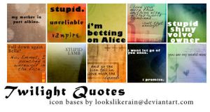 Twilight Quote Icons by d0rkus