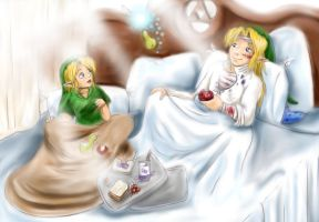 Zelda- Winged Ones- Recovering by LilleahWest