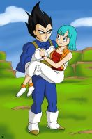 Vegeta and Bulma by MissMinority