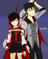 Ruby and Qrow~ by Valekirin