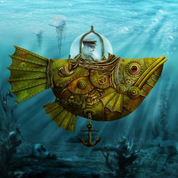 Steampunk Submersible by ravenscar45