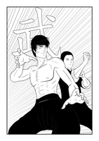 Double Dragon (Line-art) WIP by neo-verse