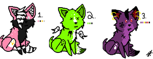 Kitty adoptables.. -CLOSED- by FR0STBYTE000