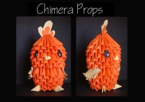Origami Torchic by ChimeraProps