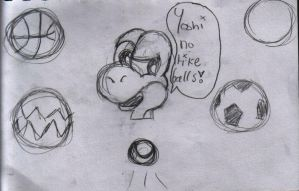 Yoshi no like balls by Fry-plus-Leela-4-eva