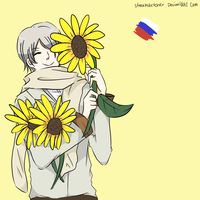 Sunflowers make me happy by streaksketcher