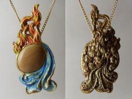 Elemental Pendant front+back by cvalphen