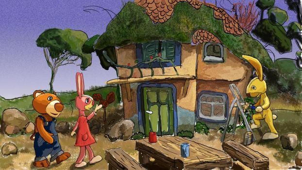 hare paints house by ginuse