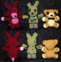 Five Nights At Freddys Plushies Commission by Dragon-Star-Empress