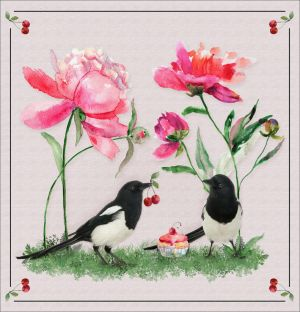 Magpies For Momotte by saperlipop