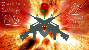 Guns and Rose. (Call of Duty)  by MayWindWolf