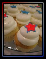 4th of July Cupcakes by MillerTime30