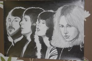 ABBA pencil work by EbbaOzolins