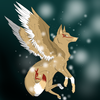 Winged Wolf: Colored by ZacharyWolf