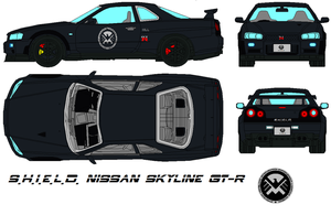 S.H.I.E.L.D. Nissan Skyline GT-R by bagera3005